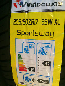 205/50/R17 set of four brand new all season tires just 340 $