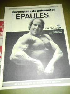 7 revues  VINTAGE DE JOE WEIDER ENTRAINEUR DES CHAMPIONS,