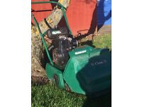 """Qualcast Classic 35 14"""" Cylinder Mower With Steel Rear Roller Fully Self Propelled"""