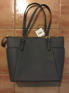 "BRAND NEW charcoal ""Dylan"" tote from Indigo"