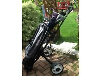 Half set of ladies golf clubs bag and trolly