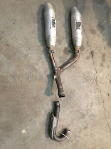 07 crf250 dual exhaust