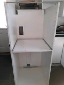 White kitchen oven unit housing 600cm wide