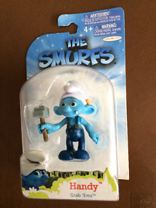 Smurfs Grab Ems Wave Handy Smurf Action Figure & Rare Model Cars