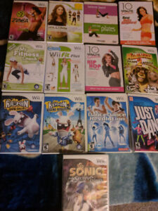Wii and Wii fit bored and dance dance bored ,games