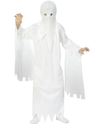 Childs Ghost Costume Boys Girls Ghastly Ghoul Kids Fancy Dress Outfit Halloween](Ghostly Ghoul Costume)