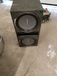 15 inch rockford fosgate p2 subs with box