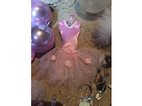 Christmas pink white and silver tree decoration s