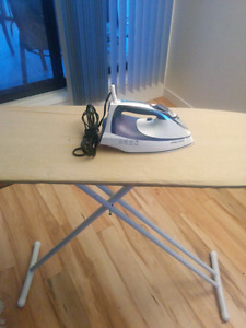 Black and decker iron with oversized board