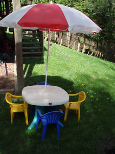 STEP 2 CHILDS PATIO TABLE SET