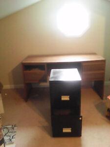 2-Drawer black filing cabinet