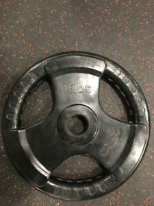 Weight plates.