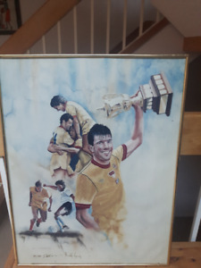 Limited Edition Vancouver 86ers Poster signed by B. Lenarduzzi