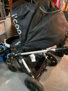 Icoo stroller and bassinet