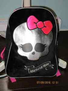 Monster high backpack/sac à dos Monster high Gatineau Ottawa / Gatineau Area image 1
