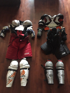 Hockey Equipment - shoulder pads, elbow pads, pants, shin pads