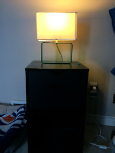 Swiveling Night Stand  and lamp
