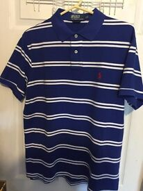 Ralph Lauren Polo Tshirt (Blue, Large) (READ DISCRIPTION)
