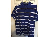 Ralph Lauren Polo Tshirt (Blue, Large) (READ DISCRIPTION)