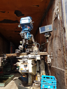 lathe milling machine and van trailer