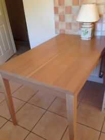 Dining room / kitchen table - beech wood effect