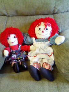 Hand made rag dolls