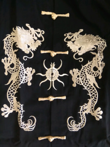 Chinese Kung Fu jacket. Black and gold.