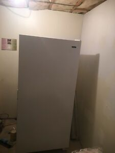 20.5 General Electric stand up freezer.