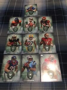 10 2012 Topps Future Legends Football Cards - Mint
