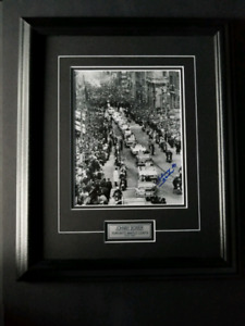 Johnny Bower Signed Framed 67 Stanley Cup Parade Photo