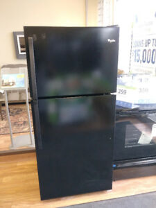 *** USED *** WHIRLPOOL 18 CU FT BLACK REFRIGERATOR
