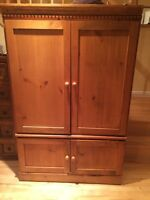 Real wood armoire / tv unit
