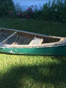 16ft Chesnut 'Pal' cedar canvas canoe