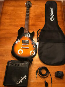 Epiphone Guitar Pack (Case, Amp, Guitar has snapped 4th string)