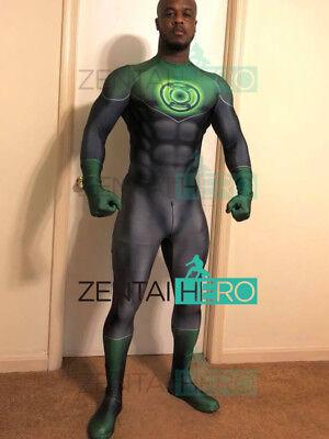 Green Lantern Costume John Stewart Green Lantern Cosplay Suit For Adult/Kids - Kids Green Lantern Costume