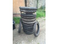 Motor cross tyres 14 tyres in total sum new sum used