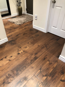 Affordable custom hardwood floor installation