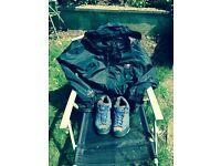 Karrimor waterproof jacket and walking shoes size 8