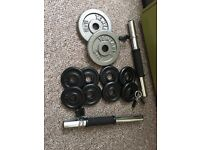 Weights plates and dumbbells