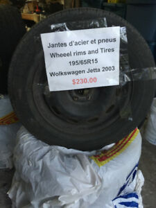 Jantes d'acier et pneus / Wheel Rims and Tires - 195/65R15