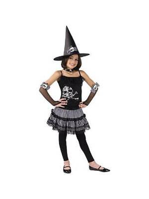 NEW GIRLS FUNKY PUNK WITCH SKULL HALLOWEEN FANCY DRESS COSTUME FOR AGES 7-12 - Halloween Costumes For Age 12