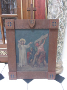Antique Religious Station Of The Cross