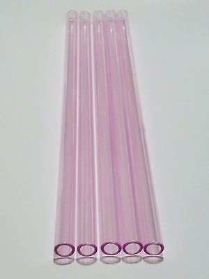Borosilicate Glass Tubing Straws 12mm Od Purple Pink Black Colors Pyrex Tubes