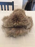 Real Fur Hat with Leather - Made in Italy