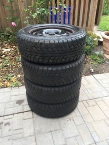 4 Snow Tires - GISLAVED - 195-65R15 with Rims