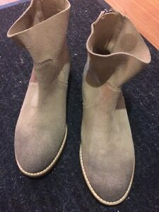Light tan booties by Shelly London brand