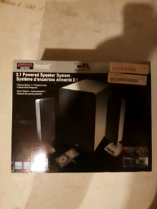 Cyber Acoustics 2.1 Speaker system model CA-3698 New never used