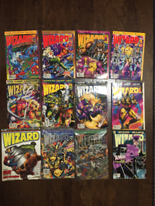 Lot of 12 Wizard Magazine Issues