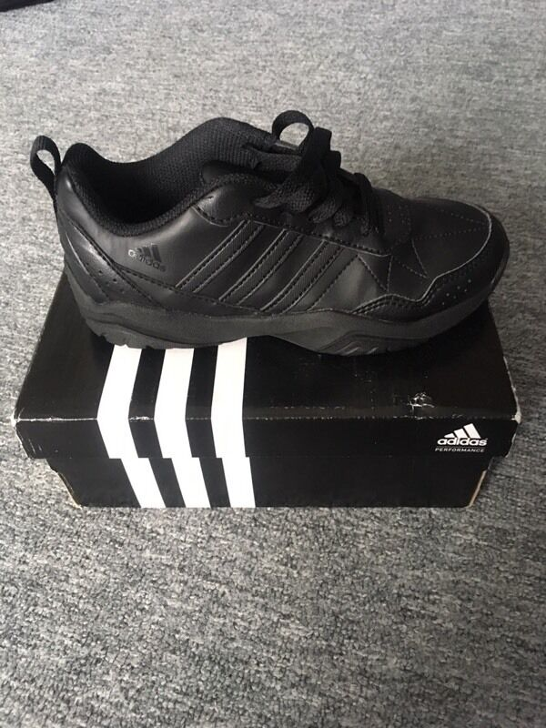 a29bd8c165bc Black adidas school trainers (Size 13)