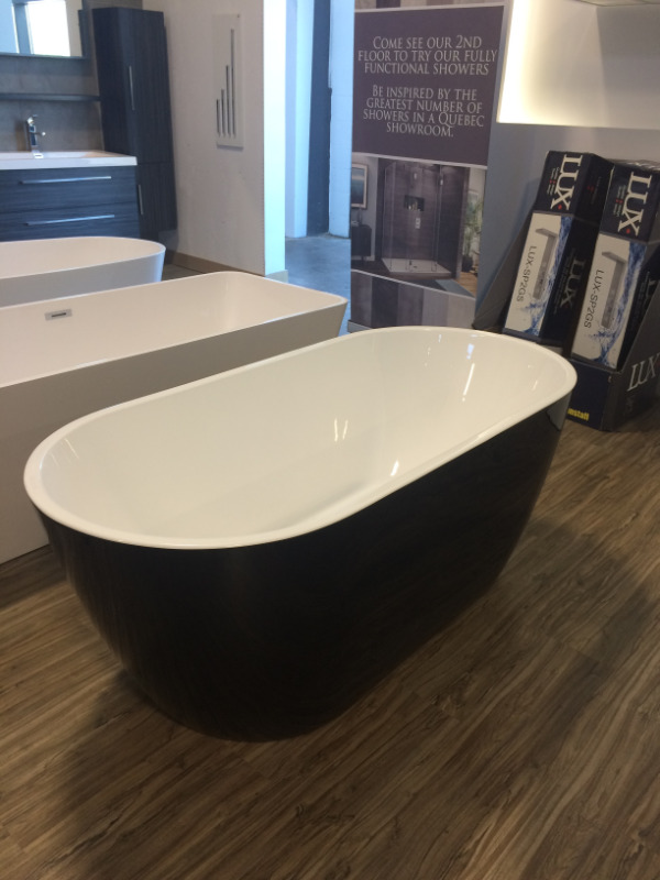 selection of black elegance bathtubs starting at only 895$, new